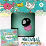 Plush Squishy And Book Kit Narwhal