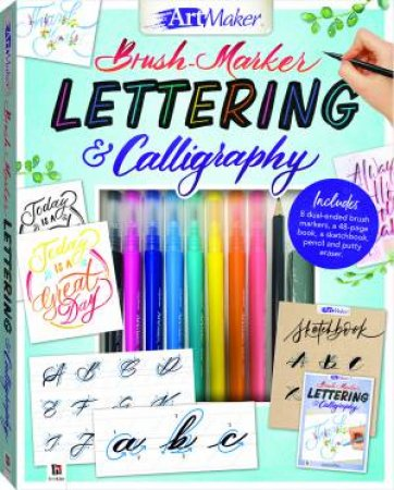 Art Maker: Brush Marker Lettering and Calligraphy Kit