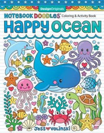 Notebook Doodles Happy Ocean by Jess Volinski