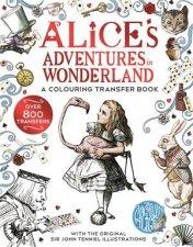Alice in Wonderland A Colouring Transfer Book
