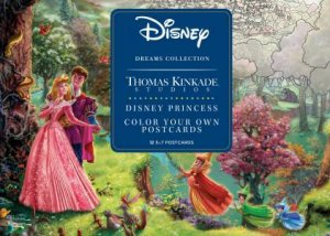 Disney Dreams Collection Thomas Kinkade Studios Disney Princess Color Your Own Postcards