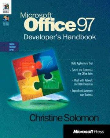 Microsoft Office 97 Developer's Handbook (Bk/Cd) by Christine Solomon