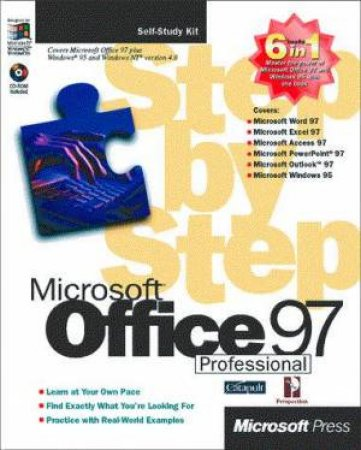 Microsoft Office 97 Professional 6-In-1 Step By Step by Various