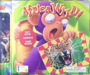 Africa Wild! Groovy Tube Book - Fact Book, Animals & Game Board by Susan Ring & Bernard Adnet