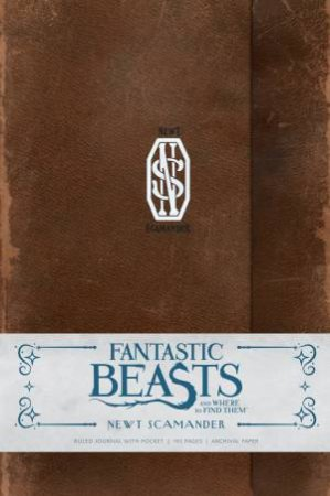 Fantastic Beasts And Where To Find Them: Newt Scamander Hardcover Ruled Journal by Various
