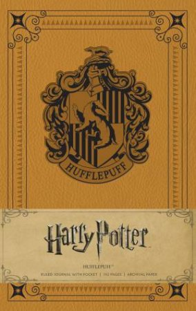 Harry Potter: Hufflepuff Hardcover Ruled Journal by Insight Editions
