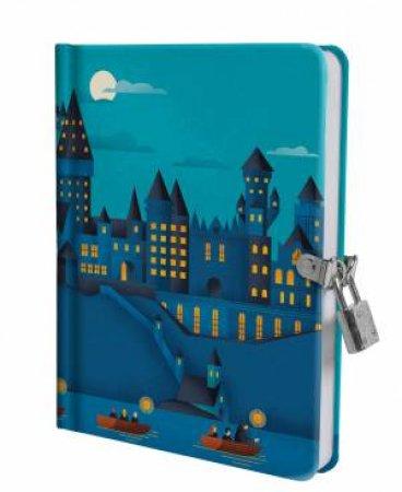 Harry Potter: Hogwarts Castle At Night Lock & Key Diary by Various