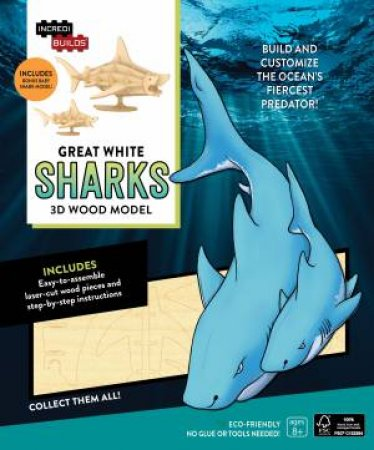 Great White Sharks: 3D Wood Model by Insight Editions