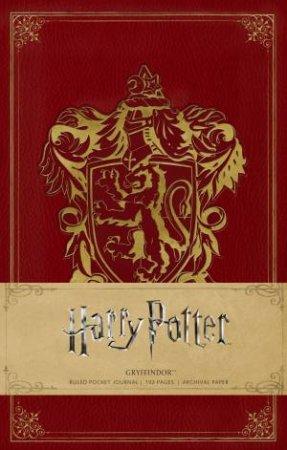 Harry Potter: Gryffindor Hardcover Ruled Pocket Journal