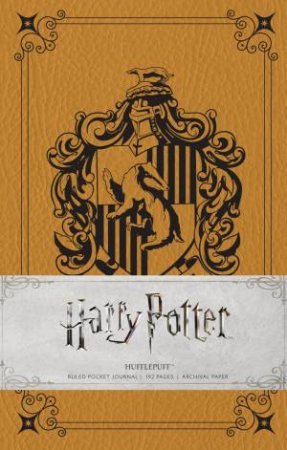 Harry Potter: Hufflepuff Hardcover Ruled Pocket Journal by Insight Editions