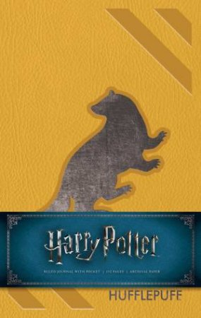 Harry Potter: Hufflepuff Hardcover Ruled Journal by Various