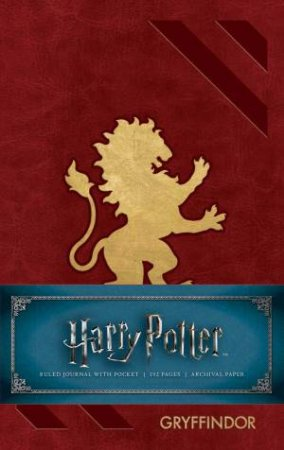 Harry Potter: Gryffindor Ruled Pocket Journal by Various
