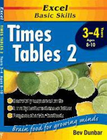 Excel Basic Skills: Times Tables 2 - Years 3 - 4