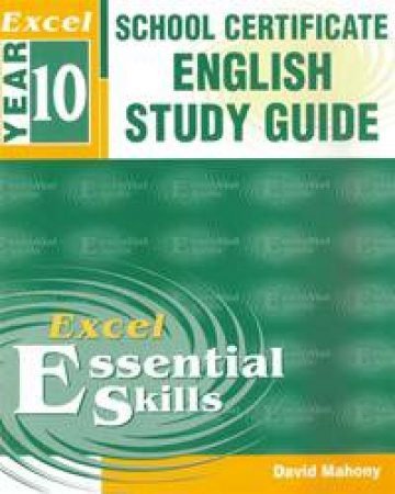 excel school certificate english study guide by david mahony rh qbd com au Excel Chapter 1 Study Guide Excel Study Guide Worksheet
