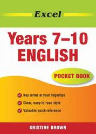 Excel Pocket Book: English - Years 7 - 10