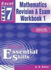 Excel Essential Skills Mathematics Revision  Exam Workbook 1  Year 7
