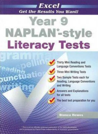 NAPLAN* Style Literacy Tests Year 9