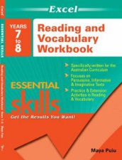Excel Essential Skills Reading  Vocabulary Yr 7  8