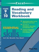 Excel Essential Skills Reading and Vocabulary Workbook Years 910