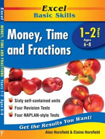 Excel Basic Skills - Money, Time and Fractions Years 1–2