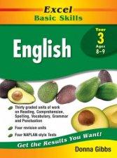 Excel Basic Skills English Year 3