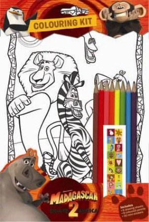 Madagascar 2 Colouring Kit by None