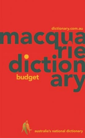 Macquarie Budget Dictionary (PVC) by Various