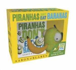 Piranhas Dont Eat Bananas Mini Book + Plush