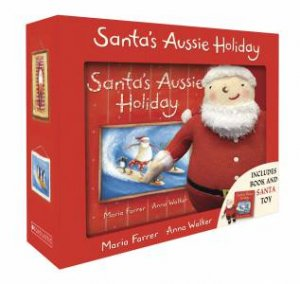 Santas Aussie Holiday Boxed Set + Plush by Maria Farrer