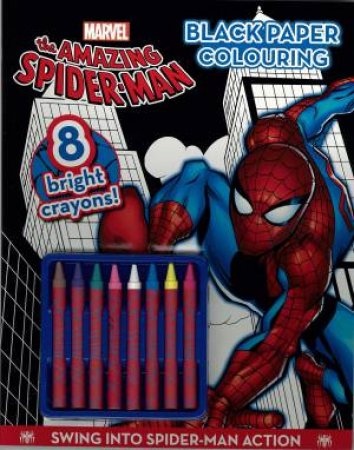 Spider-Man Black Paper Colouring Book (with Crayons) by None