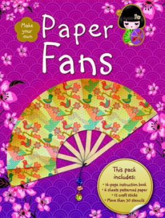 Kokeshi Paper Fans by J Mappin