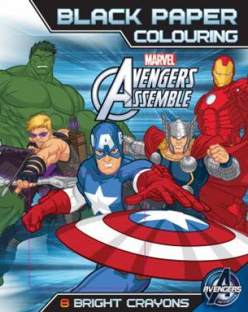 Marvel Avengers Assemble Black Paper Colouring by Various