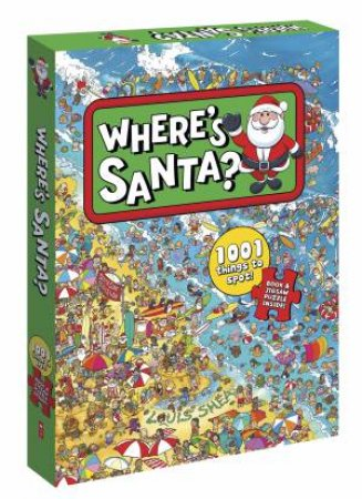 Where's Santa? Book And Jigsaw Puzzle Boxed Set by Louis Shea