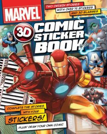 Marvel Heroes 3D Comic Sticker Book by Various