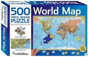Puzzlebilities 500 Piece Jigsaw Puzzle: World Map by Various ...