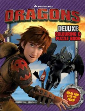 How to Train Your Dragon: Deluxe Colouring and Puzzle Bo ok