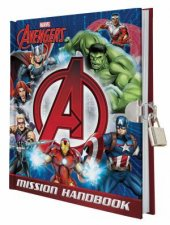 Avengers Mission Handbook with lock and key