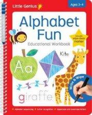 Little Genius Wipe Clean Work Books with Pen Alphabet Fun