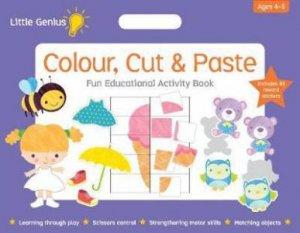 Little Genius Mega Pad - Colour, Cut & Paste
