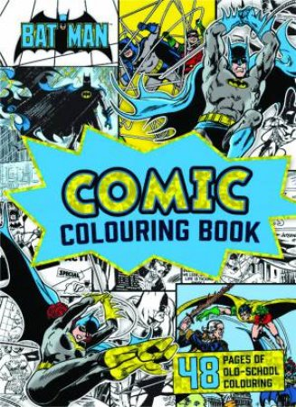 Dc Comics Batman Vintage Comic Colouring Book By Various