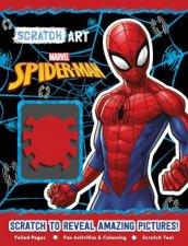 SpiderMan Scratch Art