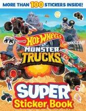 Hot Wheels Monster Trucks Super Sticker Book