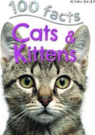 Miles Kelly 100 Facts: Cats & Kittens by Belinda Gallagher