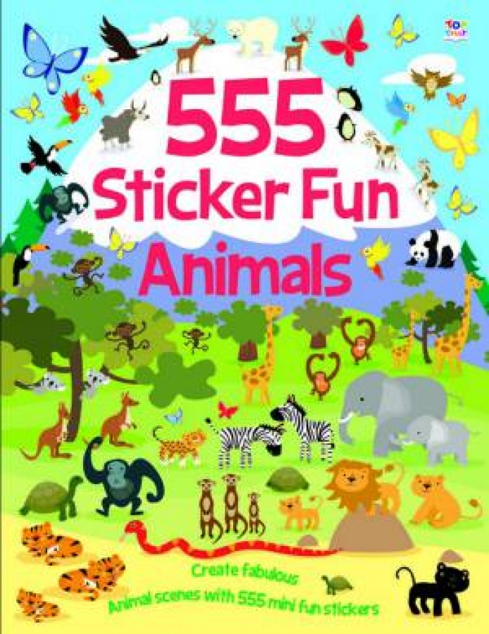 555 Sticker Fun: Animals by Various [Paperback]