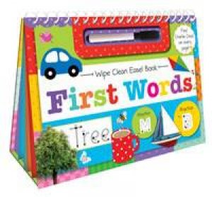 Wipe Clean Easel Book With Pen: First Words