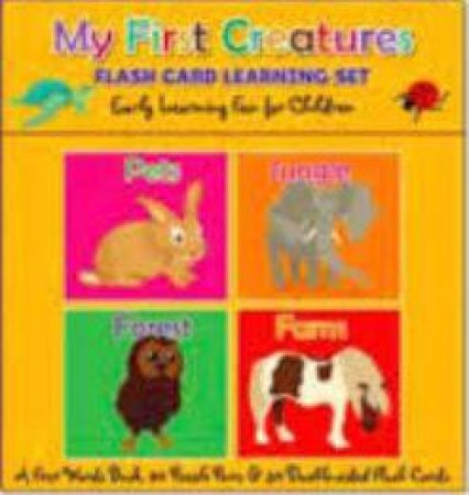 Flash Card Learning Set: My First Creatures