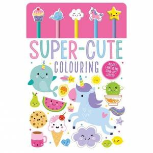 Super-Cute Pencil And Eraser Colouring Book by Various