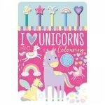 5 Pencil And Eraser Set Unicorn Colouring Book