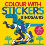 Colour With Stickers Dinosaurs