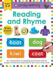 Reading And Rhyme Wipe Clean Workbook